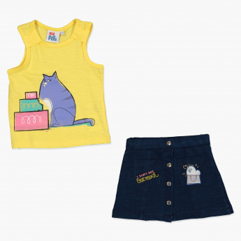 The Secret Life of Pets Printed T-Shirt and Skirt Set