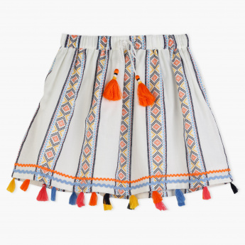Juniors Embroidered Skirt