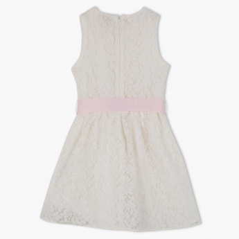 Juniors Lace Detail Sleeveless Dress