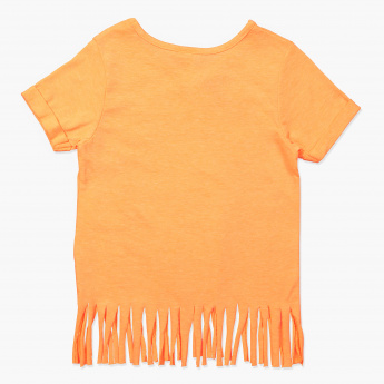 Juniors Sequin Embellished T-Shirt