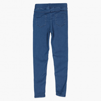 Juniors Full Length Jeans with Elasticised Waistband