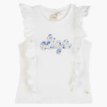 Eligo Applique Sleeveless T-Shirt