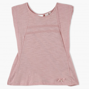 Eligo Round Neck Cap Sleeves T-Shirt