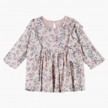 Eligo Printed Round Neck Top