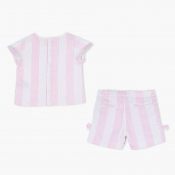 Eligo Striped Shirt and Short Set