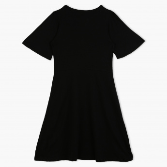 Posh Short Sleeves Dress