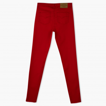 Lee Cooper Full Length Pants with Button Closure