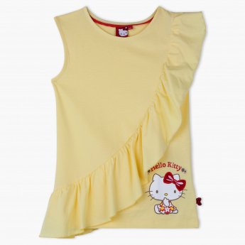 Hello Kitty Printed T-Shirt with Ruffle