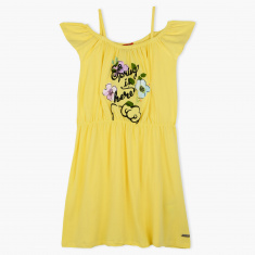 Hello Kitty Print Woven Dress