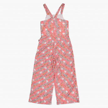 Hello Kitty Print Woven Jumpsuit