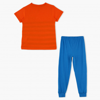 Striped T-Shirt and Jog Pants Set