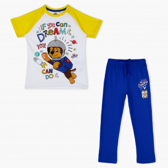 PAW Patrol Printed T-Shirt and Pyjama Set