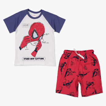 Spider-Man Printed T-Shirt and Short Set