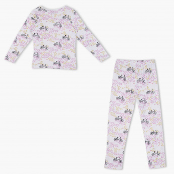 Juniors Printed T-Shirt and Pyjama - Set of 2