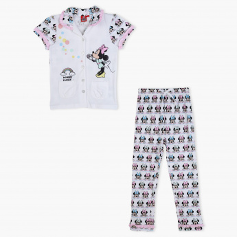 Minnie Mouse Printed Shirt and Pyjama Set