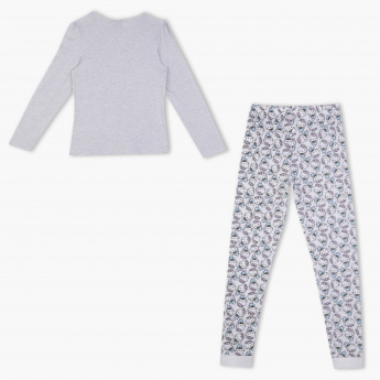 Hello Kitty Printed T-Shirt and Jog Pants Set