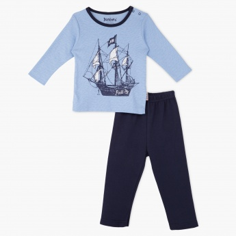 Juniors T-Shirt and Pyjama Set