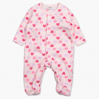Juniors Printed Round Neck Long Sleeves Sleepsuit