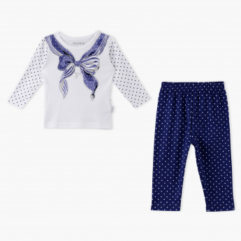 Juniors Printed T-Shirt and Pyjama Set