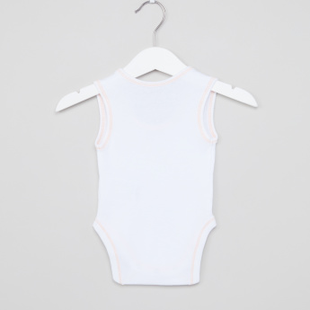 Juniors Stitch Detail Round Neck Bodysuit - Set of 3