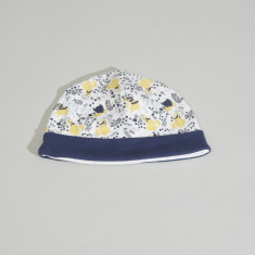 Juniors Cat Printed Beanie Cap