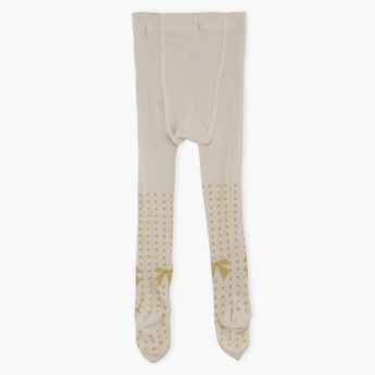 Juniors Printed Closed Feet Tights with Elasticised Waistband
