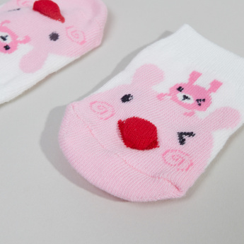 Juniors 3D Detail Bunny Printed Socks