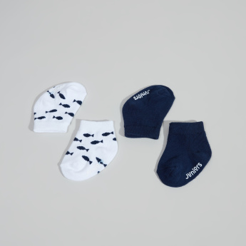 Juniors Infant 2-Piece Ankle-Length Printed Socks Set