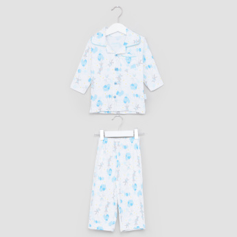 Juniors Balloon Printed Long Sleeves Top and Pyjama Set