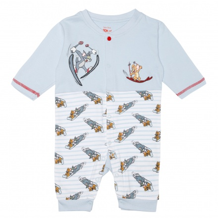 Tom and Jerry Printed Sleepsuit