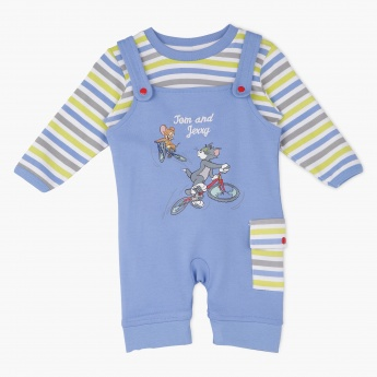Tom and Jerry Dungaree Set