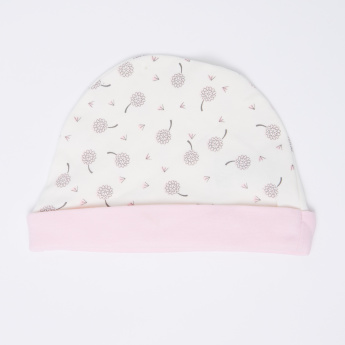 Printed Beanie Cap with Folded Hem