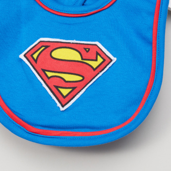 Superman Applique Detail Bib