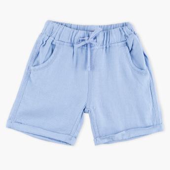 Giggles Pocket Detail Shorts with Elasticised Waistband and Drawstring