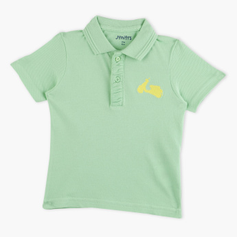 Juniors Polo Neck T-shirt with Short Sleeves