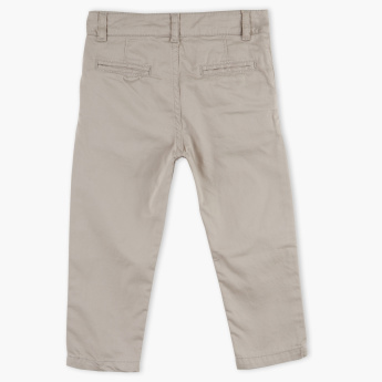 Juniors Pocket Detail Pants with Button Closure
