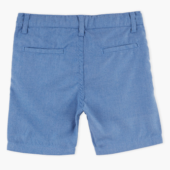 Juniors Pocket Detail Shorts with Button Closure