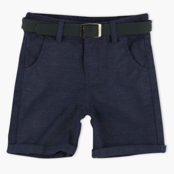 Juniors Pocket Detail Shorts with Belt