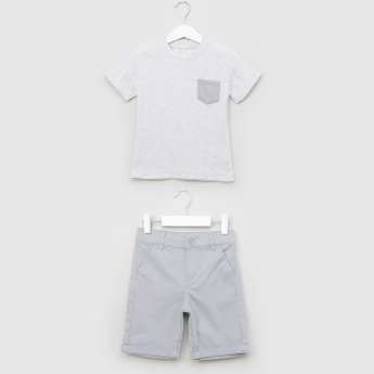 Eligo Round Neck T-shirt and Shorts Set