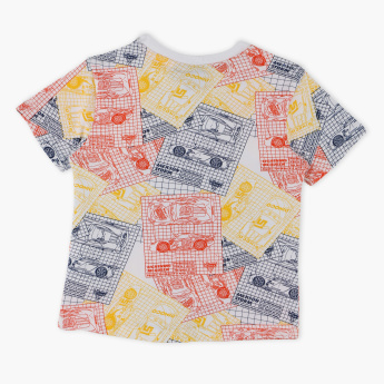 Cars Printed Round Neck T-Shirt