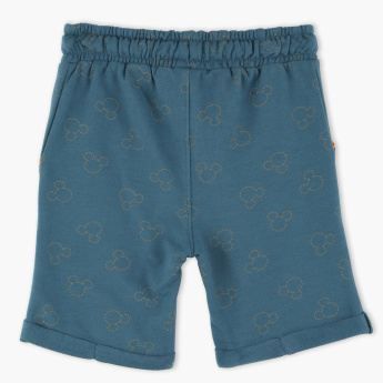 Mickey Mouse Printed Shorts with Elasticized Waistband