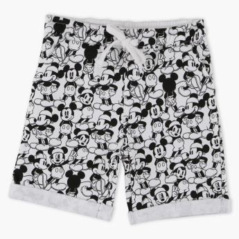 Mickey Mouse Printed Shorts with Elasticised Waistband