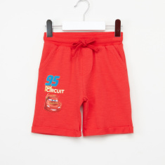Cars Printed Shorts with Elasticised Waistband