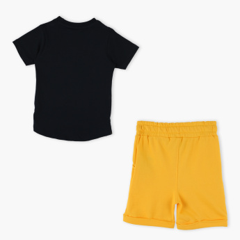 Max and Duke Printed Round Neck T-Shirt with Shorts