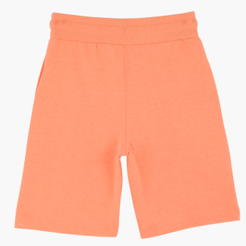 Juniors Knitted Shorts with Elasticised Waistband and Drawstring