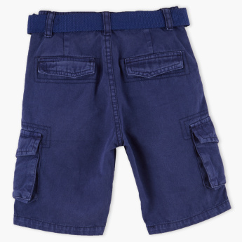 Juniors Pocket Detail Cargo Shorts with Belt