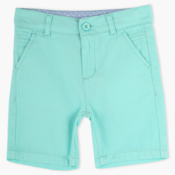 Juniors Shorts with Button Closure and Pocket Detail