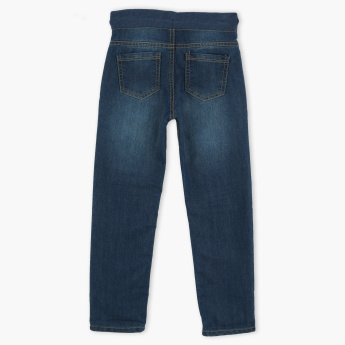 Juniors Jeans with Elasticised Waistband and Drawstring