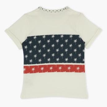 Eligo Printed Round Neck T-Shirt