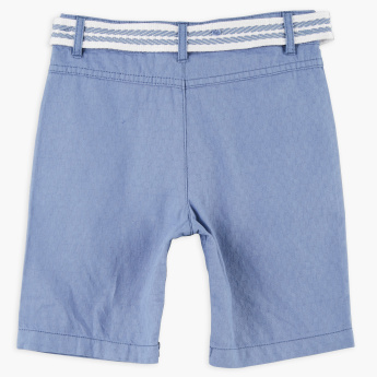 Eligo Pocket Detail Shorts with Belt